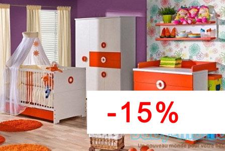 Atb provence 5 meubles lit commode armoire 2 portes petite armoire t - Chambre bebe complete discount ...