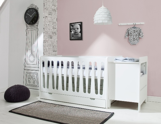 pinio moon 4 meubles lit 14070 volutif commode 2 tiroirs armoire 2 portes tagre murale offerte